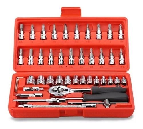 juego caja set dados chicharra 46 pcs herramientas  ml2903