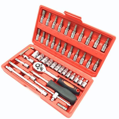 juego caja set dados con chicharra 1/4 46 piezas con maleta