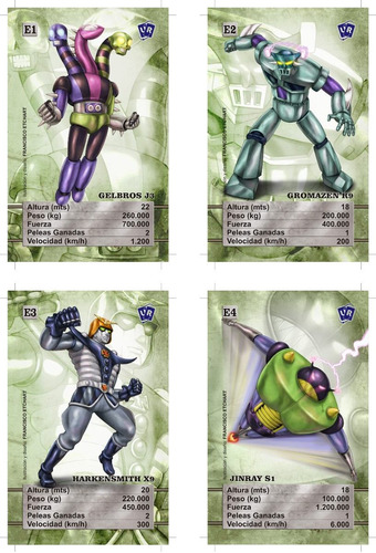 juego cartas naipes mazinger z universo retro match 4