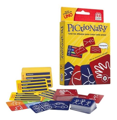 juego cartas pictionary adivinar dibujos orig mattel ruibal