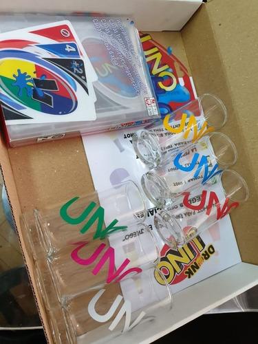 juego cartas uno h2o + 4 copas reflectivas + tabla de reglas