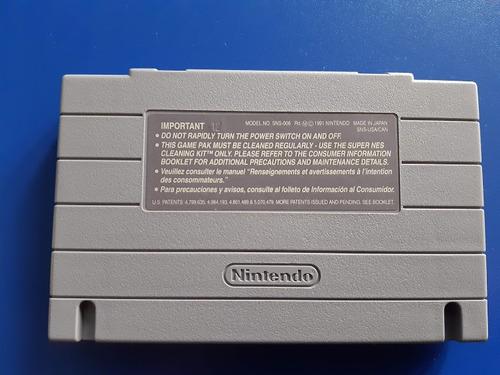 juego cassette super double dragon  super nintendo snes