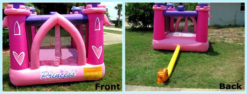 juego castillo princesas inflable brincolin rosa eventos