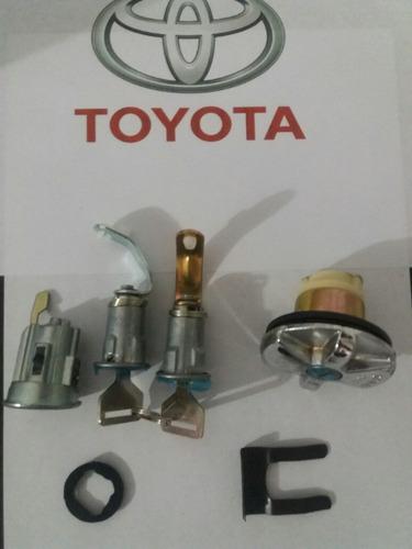 juego cerradura cilindors completa toyota fj40. 4 pcs.
