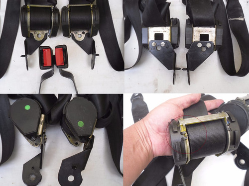 juego cinturones retractil del-tras vocho