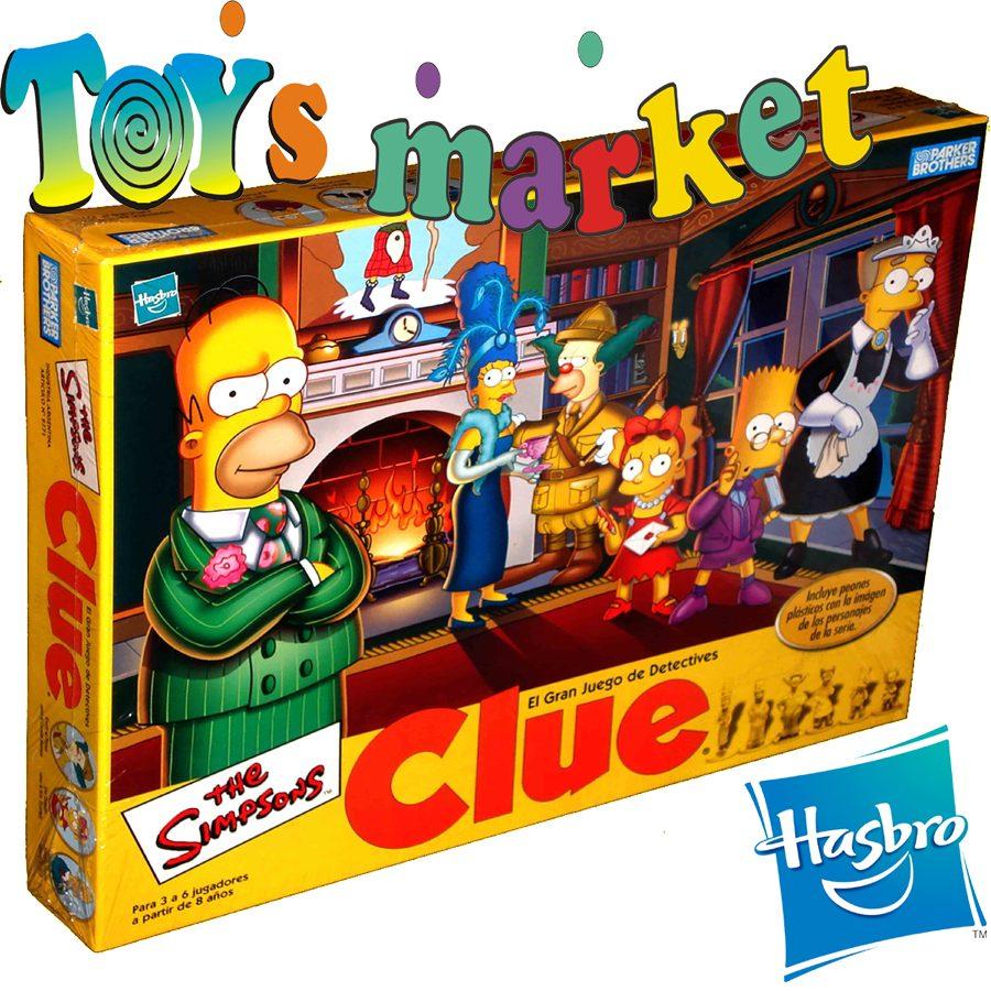 Juego Clue De Los Simpsons Detectives Homero Marca Hasbro   589