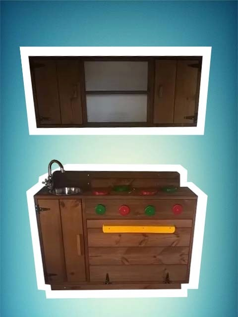 Juego cocina de madera ni os cocinita infantil estanteria - Cocinas infantiles madera ...