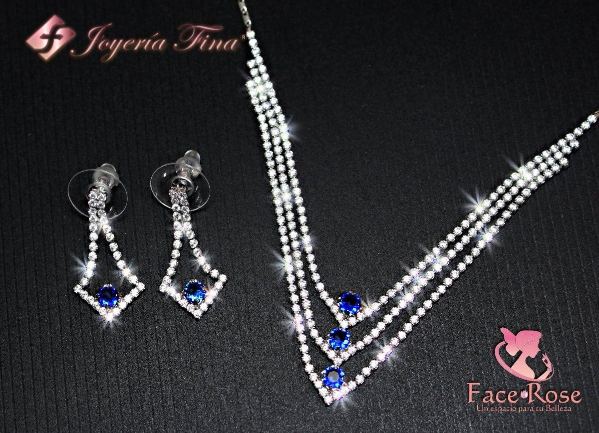 ee6669d47618 juego collar y aretes para mujer oro blanco 18k regalo fino. Cargando zoom.