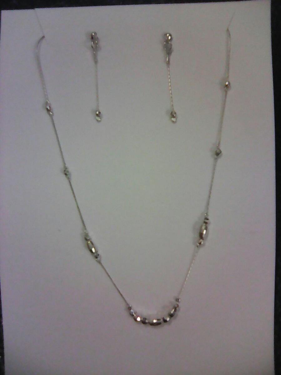 de1c349091ab Juego Collar Y Aretes Plata -   420.00 en Mercado Libre