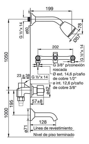 juego combo set de griferias fv arizona lavatorio + bidet + ducha de embutir con transferencia baño completo garantia