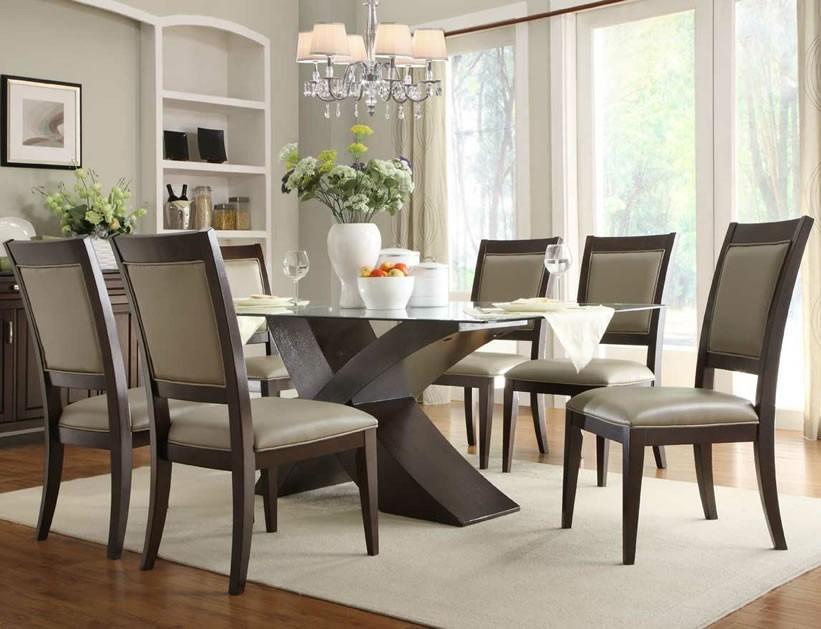 Juego comedor 6 puestos lineal moderno cm 108 u s for Comedor de 4 sillas moderno