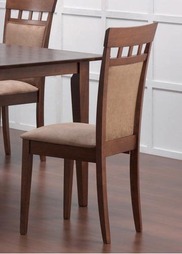 Juego comedor 6 sillas madera importado bs 2 80 en mercado libre - 6 sillas comedor ...