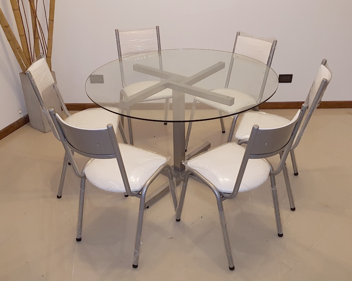 Best mesa redonda de vidrio para comedor ideas casas for Mesa vidrio