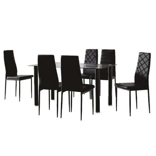 juego comedor 6 sillas mesa de vidrio tentación