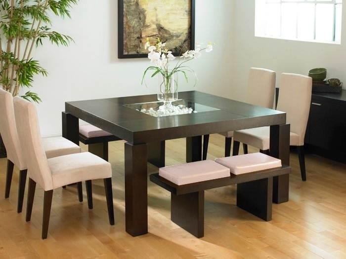Juego comedor 8 puestos lineal moderno cm 046 u s Juego de comedor 4 sillas moderno