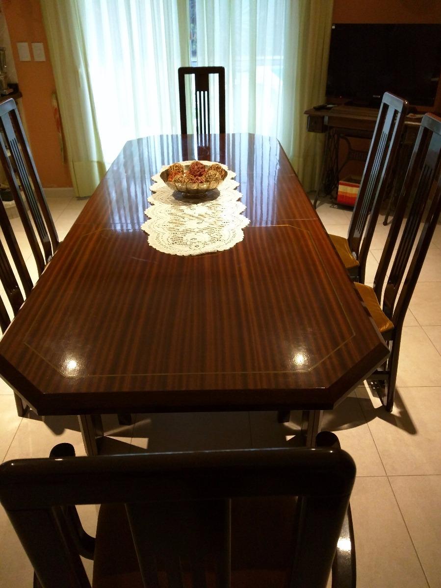 comedor caoba 6 sillas