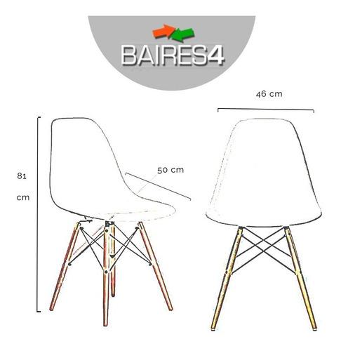 juego comedor combo eames mesa mas 4 sillas baires 4