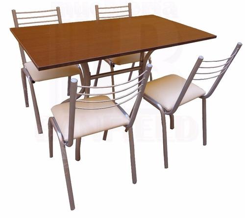 juego comedor combo mesa+4 sillas caño | envío gratis merlo