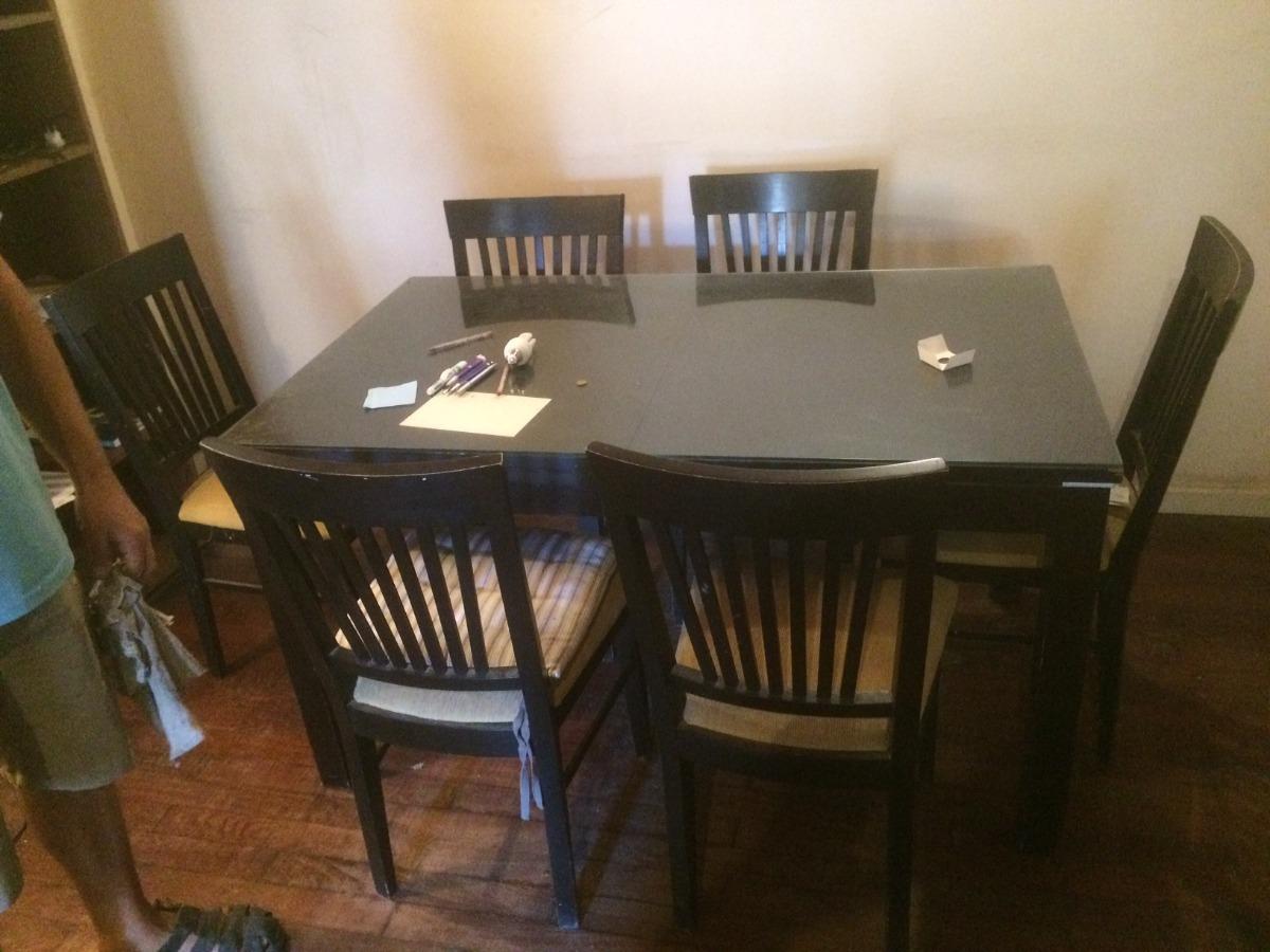 Juego Comedor Completo Mesa + 6 Sillas + Mueble Aparador - $ 6.500 ...