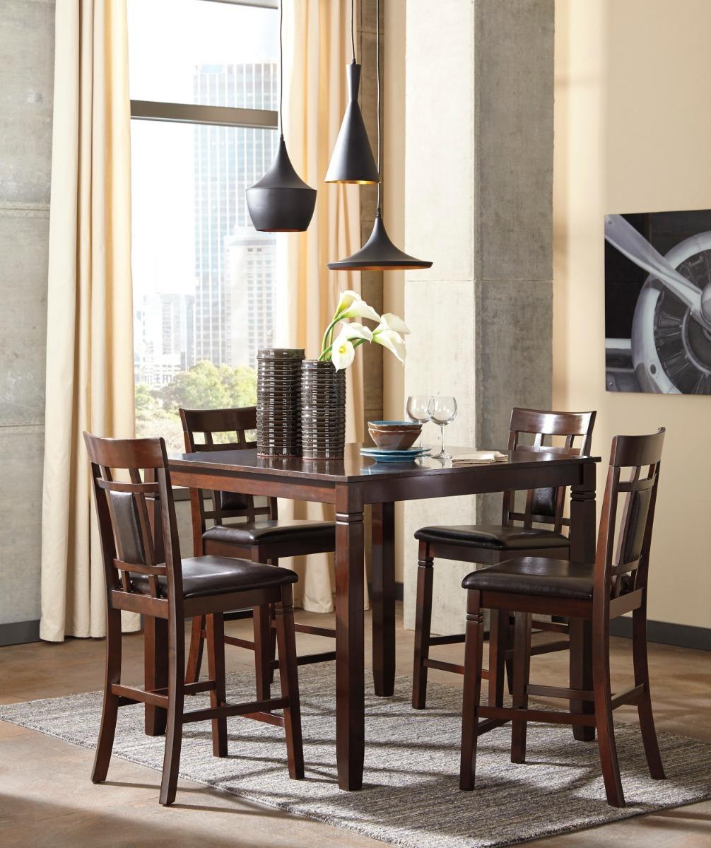 Juego Comedor Con Mesa Alta Y Cuatro Sillas Ashley Furniture ...