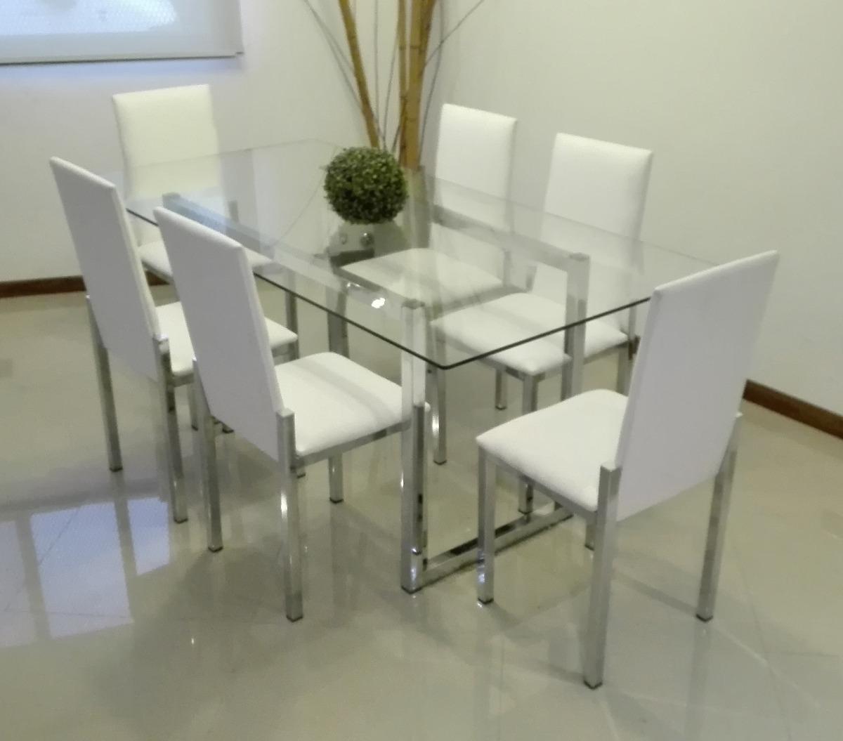 Mesas y sillas modernas para comedor good comedor con for Mesa comedor vidrio
