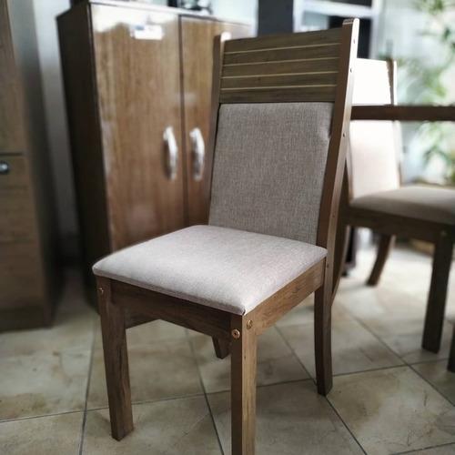 juego comedor dalia 4 sillas asiento tapizado. mi casa