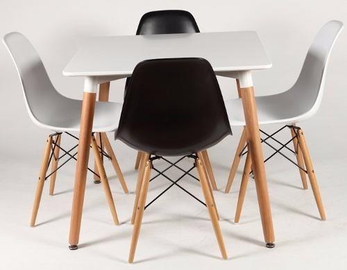 Juego Comedor Diseño Eames 2 Sillas Mesa Estilo Nordico - $ 4.490,00 ...