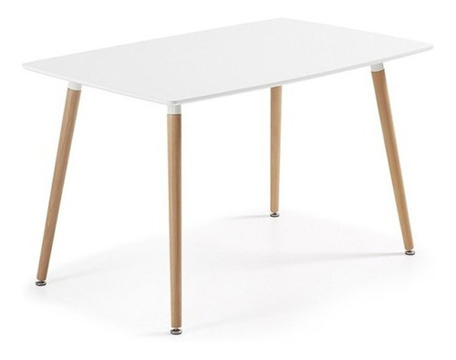juego comedor eames mesa rectangular 120x80 + 4 sillas