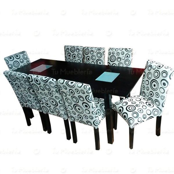 Mesa comedor en maderade 8 sillas for Mesas de comedor extensibles con sillas