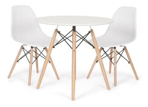 juego comedor mesa + 2 sillas eames - mundo trabajo