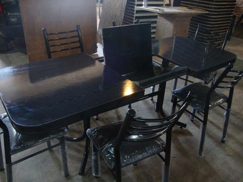 juego comedor mesa extensible + 6 sillas coba!  diaz muebles