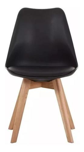 juego comedor mesa iriarte 140 x 80 + 6 sillas tulip negro
