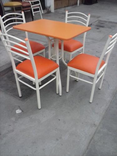 juego comedor mesa melamina con 4 sillas ( nuevo )