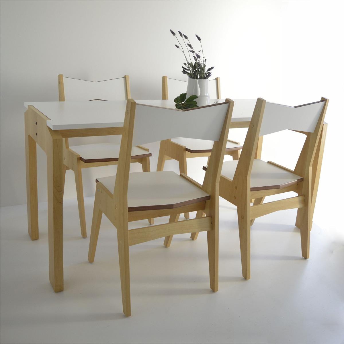 Juego Comedor Moderno Pch Diseño Nordico Mesa 4 Sillas - $ 11.980,00 ...