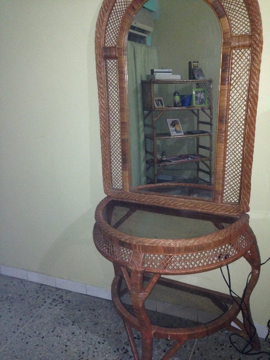 Combo juego comedor de muebles espejos estantes esquinero for Juego muebles comedor