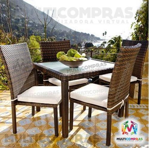 Juego comedor para terraza exteriores muebles finca silla - Comedores exteriores para terrazas ...