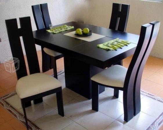 Juego de comedor moderno minimalista de 4 puestos bs for Comedores de madera nuevos