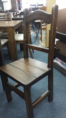 juego comedor rústico en madera - composse equipamientos