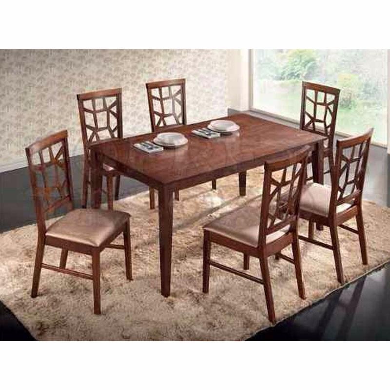 juego de comedor elegante 100 madera maciza con 6 sillas