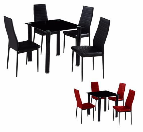 Juego de comedor con 4 sillas tapizados en for Juego de comedor 4 sillas