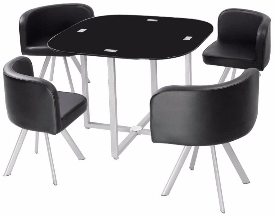 juego de comedor mesa vidrio templado y 4 sillas