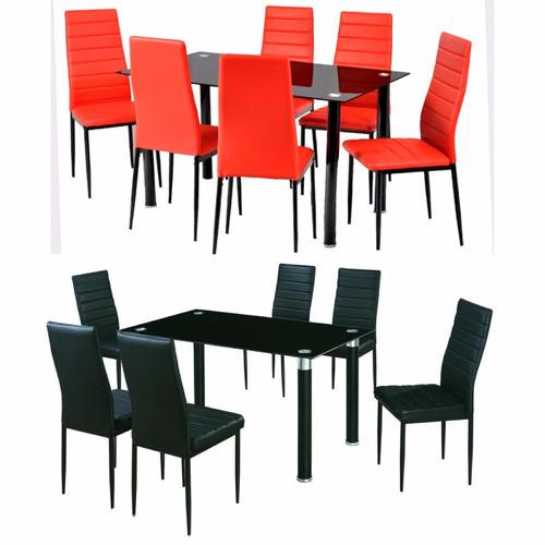 Juego comedor con 6 sillas tapizados narvaja for Precio juego de comedor con 6 sillas