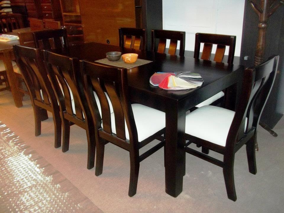 Juego de comedor 8 personas mesa sillas madera maciza - Sillas de comedor usadas ...