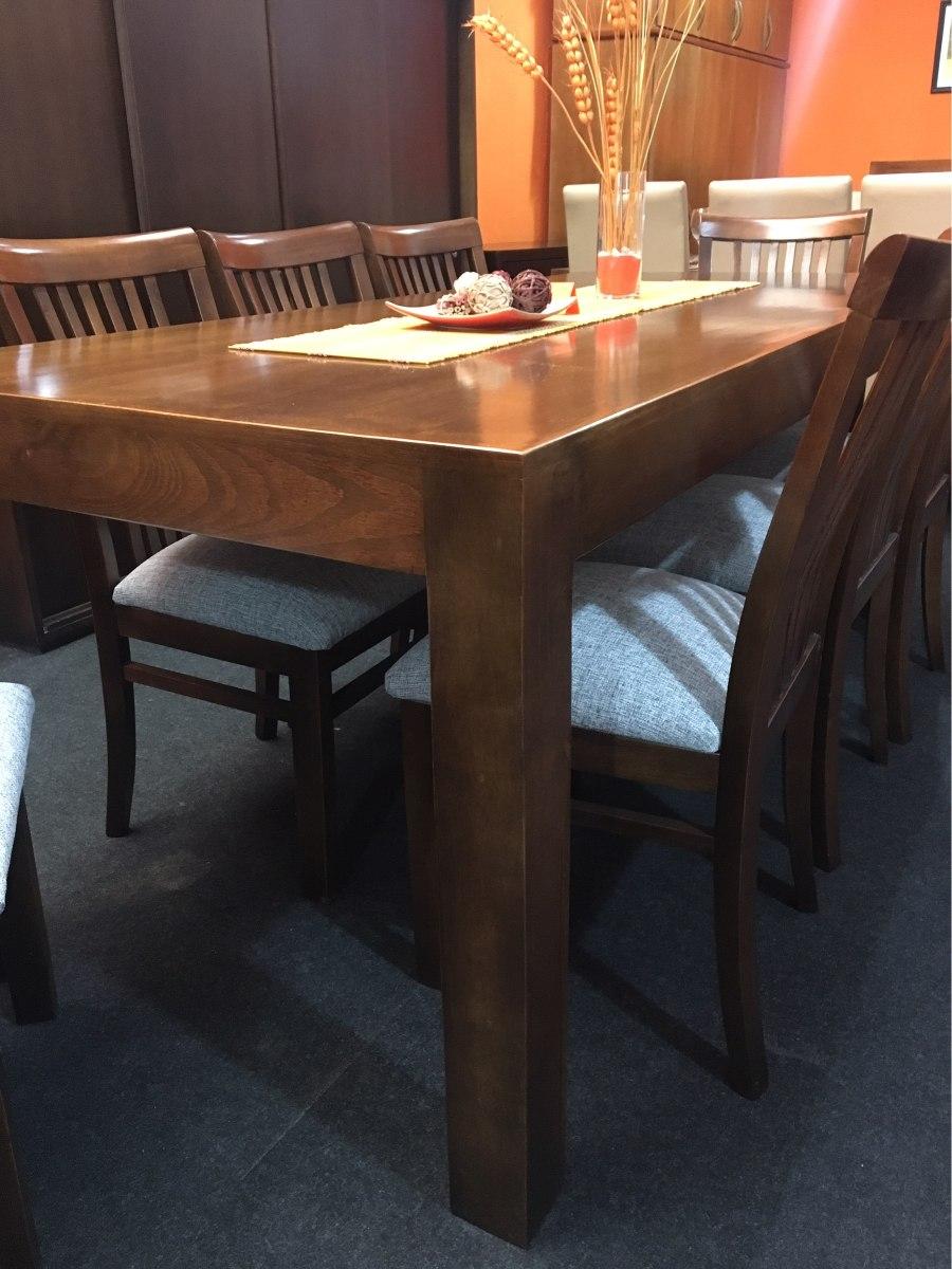 Juego de comedor con 8 sillas madera maciza eucaliptus for Comedor 8 sillas madera