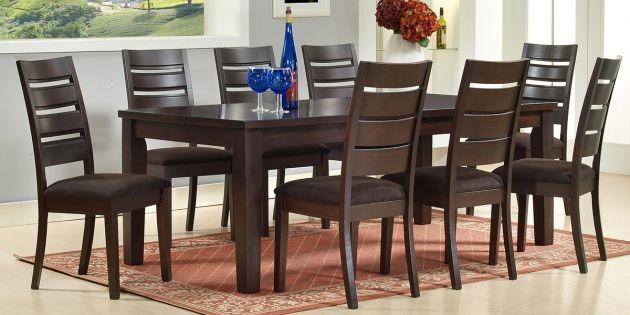 Juego de comedor san mart n mesa 8 sillas en madera de for Comedor 8 sillas madera