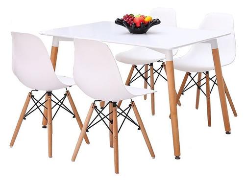 juego comedor smart 4 sillas eames