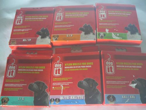 juego completo de bozales para perros marca dog it