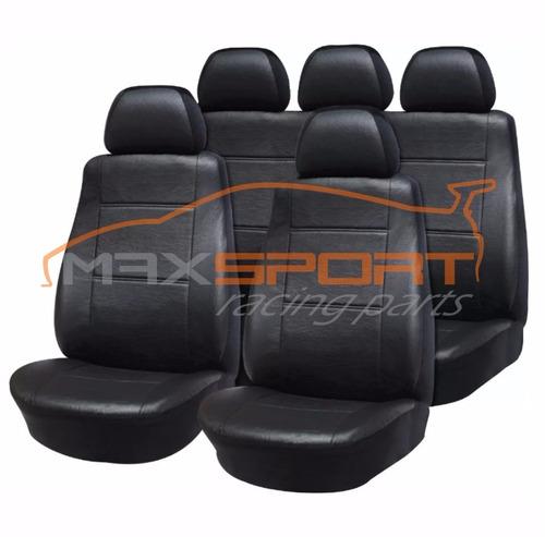 juego completo funda cubre asiento cuero ecológico
