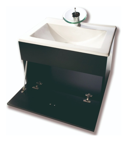 juego completo inodoro vanitory 60cm espejo griferia cascada