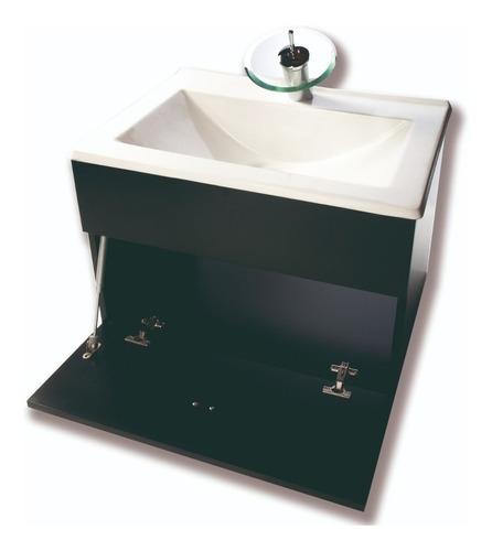 juego completo inodoro vanitory 60cm espejo griferia- cuotas